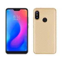 Etui Carbon Fiber Xiaomi Mi A2 Lite złoty/gold