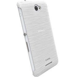 Etui Krusell FrostCover do Sony Xperia E4 - biały przeźroczysty