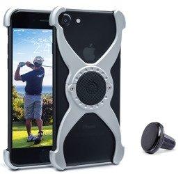 Etui RokForm Predator do Apple iPhone 7/8 naturalne aluminiowe  + uchwyt magnetyczny w kratkę wentylacyjną