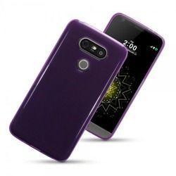 Etui Terrapin do LG G5 żelowe przeźroczysto fioletowy