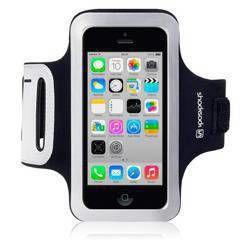 Etui sportowe Shocksock do Apple iPhone 5C odblaskowe - czarny