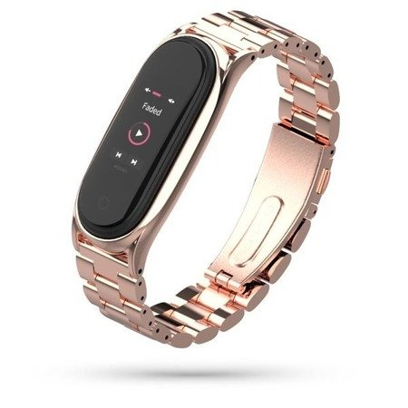 BRANSOLETA TECH-PROTECT STAINLESS XIAOMI MI BAND 5/6 ROSE GOLD