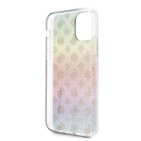 ETUI GUESS 4G PEONY ELECTROPLATED PATTERN - IPHONE 11 PRO (KOLOROWY)