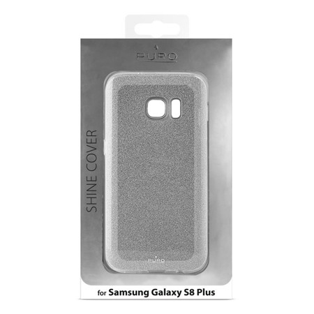 Etui PURO Glitter do Samsung Galaxy S8 Plus błyszczące srebrne