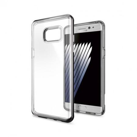 Etui SPIGEN SGP Neo Hybrid Crystal do Samsung Galaxy Note FE / Note 7 przeźroczysto - szare