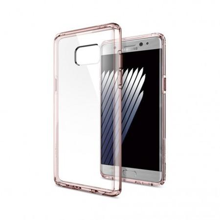 Etui SPIGEN SGP Ultra Hybrid do Samsung Galaxy Note FE / Note 7 różowe
