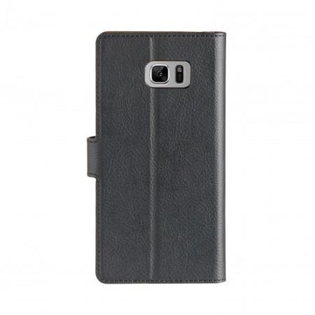 Etui książkowe XQISIT Slim Wallet do Samsung Galaxy Note FE / Note 7 czarne