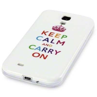 Etui silikonowe Call Candy do Samsung i9500 Galaxy S4 - Keep Calm