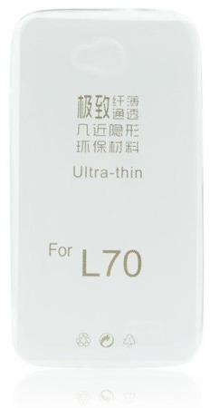 Etui silikonowe do LG L70 - przeźroczyste