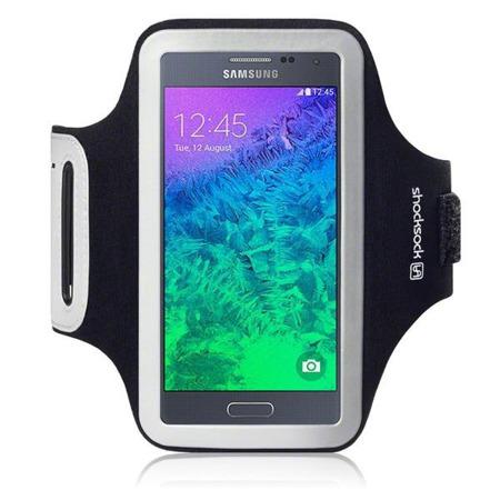 Etui sportowe Shocksock do Samsung Galaxy Alpha odblaskowe - czarny