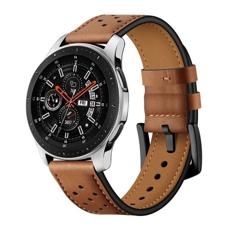 Pasek Tech-Protect Leather Brown Samsung Watch 46 MM - brązowy
